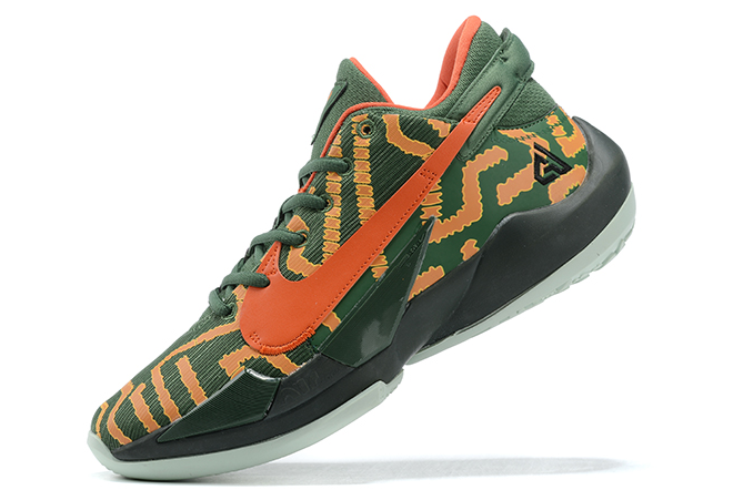 2020 Release Custom Nike Zoom Freak 2 Nike By You Army Green/Orange-Black