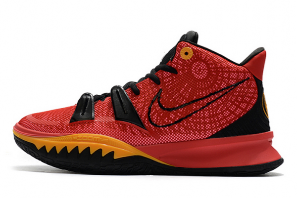 2021 Nike Kyrie 7 University Red/Black-Gold For Cheap