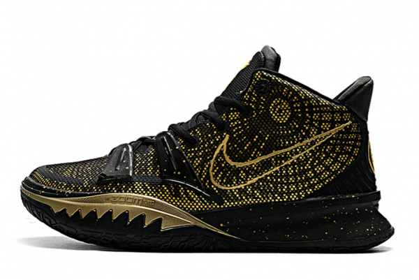 New Arrival Nike Kyrie 7 Metallic Gold Black On Sale