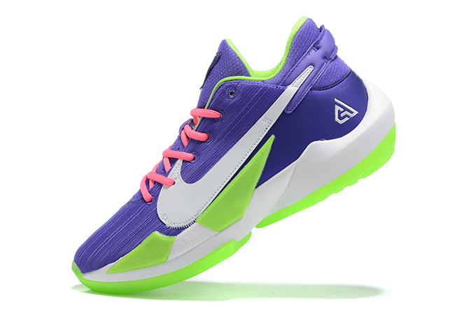 2020 Nike Zoom Freak 2 Christmas Purple/Green-White Cheap Sale