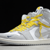 2021 Cheap Air Jordan 1 High Switch Light Smoke Grey For Sale CW6576-100-4
