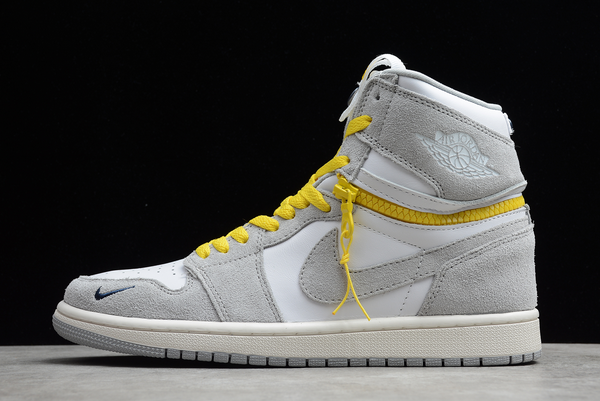 2021 Cheap Air Jordan 1 High Switch Light Smoke Grey For Sale CW6576-100