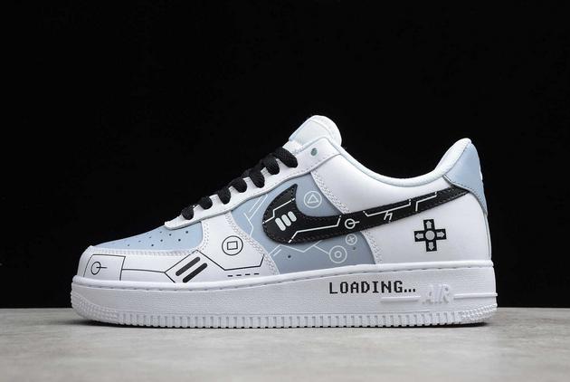 2021 Cheap Nike Air Force 1 Low AF1 White/Grey-Black CW2288-111