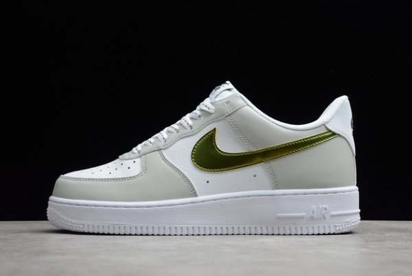 2021 Cheap Nike Air Force 1 Low Metallic Summit White For Sale DC9029-100