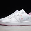 2021 Cheap Nike Court Borough Low 2 SE GS White/Pink CK5426-100 -4