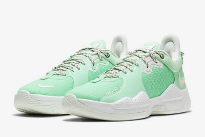 2021 Cheap Nike PG 5 PE Mint Green/White