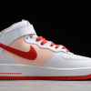 2021 Latest Nike Air Force 1 07 Mid White Red For Sale CD0884-123 -1