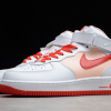 2021 Latest Nike Air Force 1 07 Mid White Red For Sale CD0884-123 -4