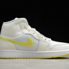 2021 New Air Jordan 1 Mid SE Voltage Yellow For Sale DB2822-107 -1