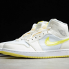 2021 New Air Jordan 1 Mid SE Voltage Yellow For Sale DB2822-107 -2
