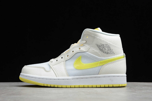 2021 New Air Jordan 1 Mid SE Voltage Yellow For Sale DB2822-107