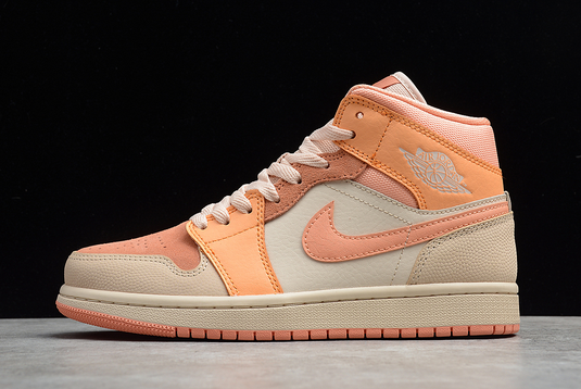 New Air Jordan 1 Mid Atomic Orange/Apricot Agate-Terra Blush DH4270-800