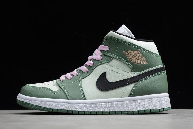 2021 Air Jordan 1 Mid SE Dutch Green Basketball Sneakers For Sale CZ0774-300
