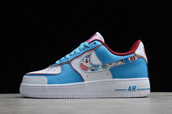 2021 Latest Nike Air Force 1 '07 AF1 Doraemon Shoes On Sale BQ8988-106