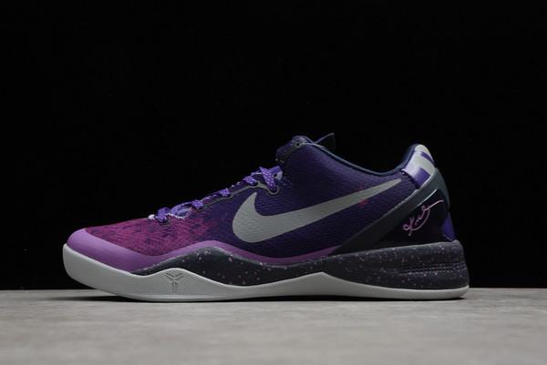 2021 Buy Nike Kobe 8 Playoffs Purple Platinum 555035-500