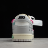 2021 New Off-White x Nike SB Dunk Low The 50 White Grey Pink Sale DM1602-122-5