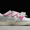 2021 New Off-White x Nike SB Dunk Low The 50 White Grey Pink Sale DM1602-122-3
