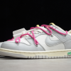 2021 New Off-White x Nike SB Dunk Low The 50 White Grey Pink Sale DM1602-122-2