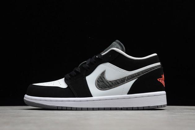 2021 Air Jordan 1 Low Lifestyle Infrared Black/Infrared 23-White-Grey Basketball Shoes 553558-029