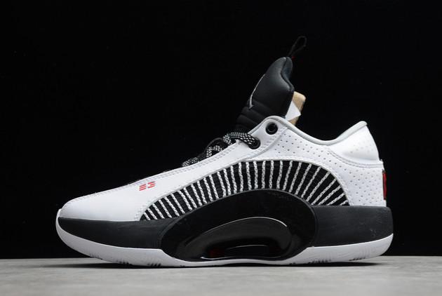 2021 Air Jordan 35 XXXV Low PF White Black For Sale CW2459-101