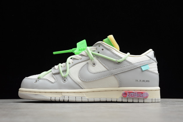 2021 Cheap Off-White x Nike Dunk Low THE 10 of 50 DM1602-108