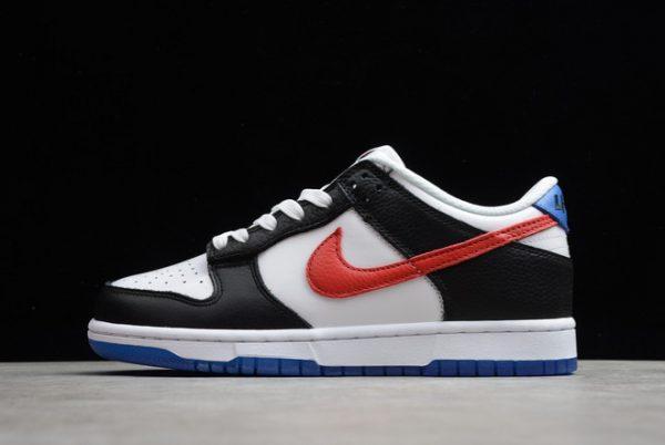 2021 Nike Dunk Low South Korea Black White-Red-Blue Lifestyle Shoes DM7708-100