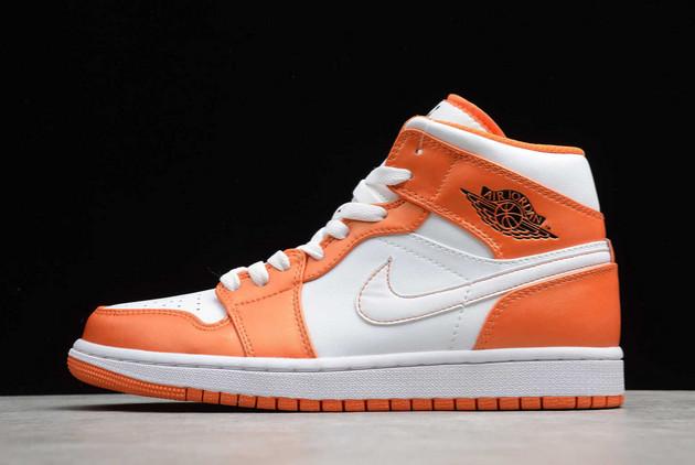 Air Jordan 1 Mid Electro Orange White Orange To Buy DM3531-800