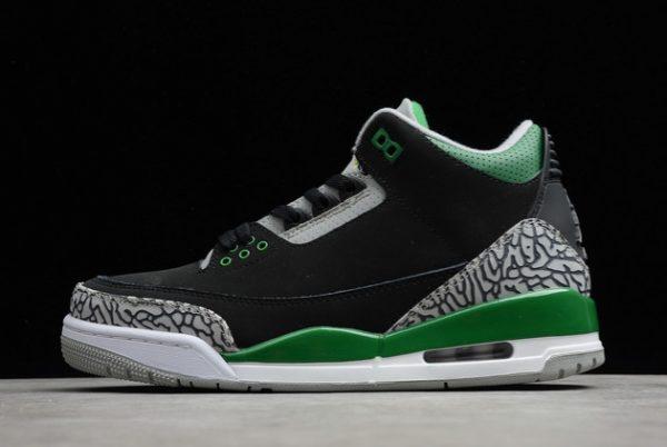 Latest Air Jordan 3 Pine Green Black/Pine Green/Cement Grey-White For Sale Online CT8532-030