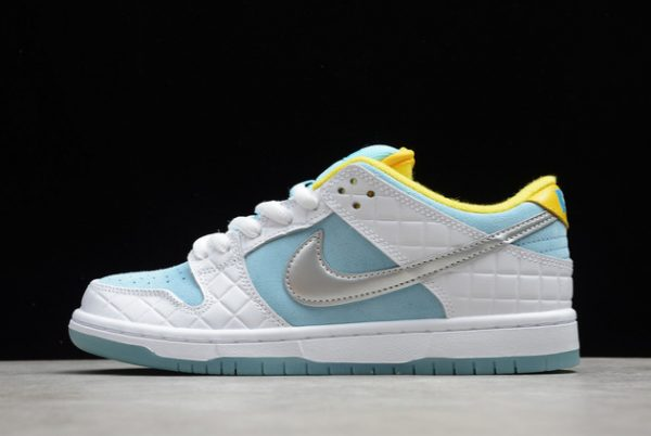 Latest Release FTC x Nike SB Dunk Low Pro Lagoon Pulse DH7687-400