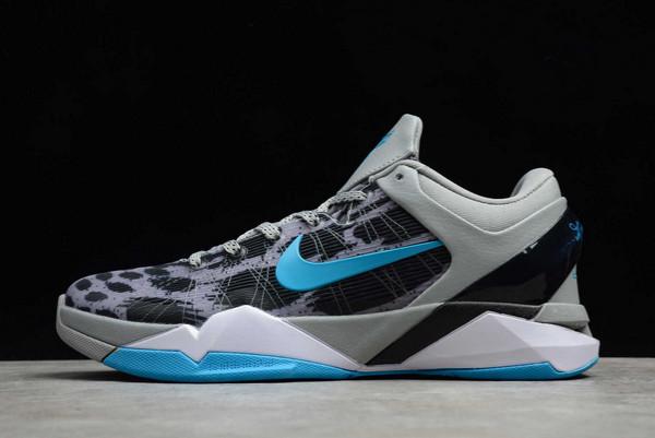 2021 Cheap Nike Kobe 7 System Leopard Wolf Grey 488370-002