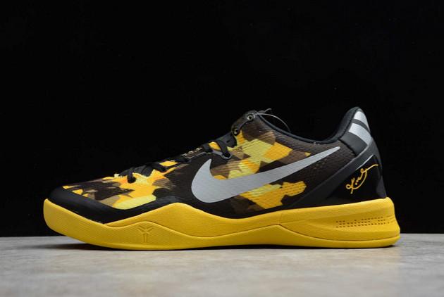 2021 Cheap Nike Zoom Kobe 8 VIII XDR Black/Electric Yellow-Grey 555286-077
