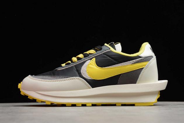 2021 Cheap Undercover x Sacai x Nike LDWaffle Bright Citron Black/Sail-Dark Grey-Bright Citron DJ4877-001