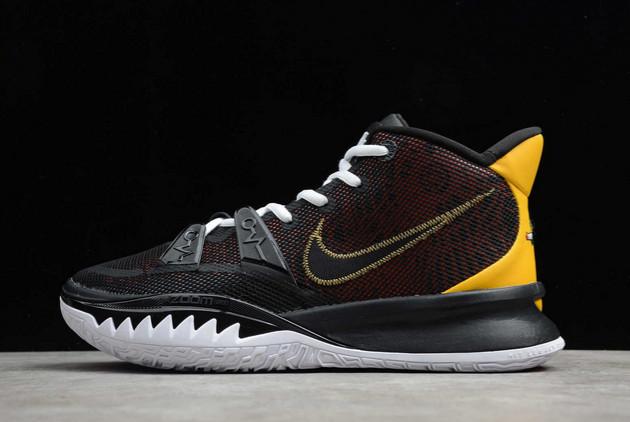 2021 Nike Kyrie 7 Rayguns Black/University Gold-Team Orange For Sale CQ9327-003
