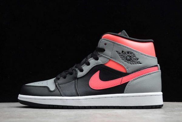 Air Jordan 1 Mid Pink Shadow Basketball Shoes For Sale 554724-059
