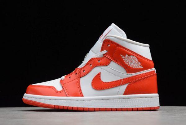 Air Jordan 1 Mid Syracuse Orange White Basketball Shoes For Sale BQ6472-116