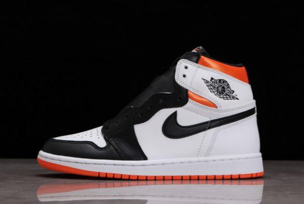 Discount Air Jordan 1 High OG Electro Orange White/Electro Orange-Black 555088-180