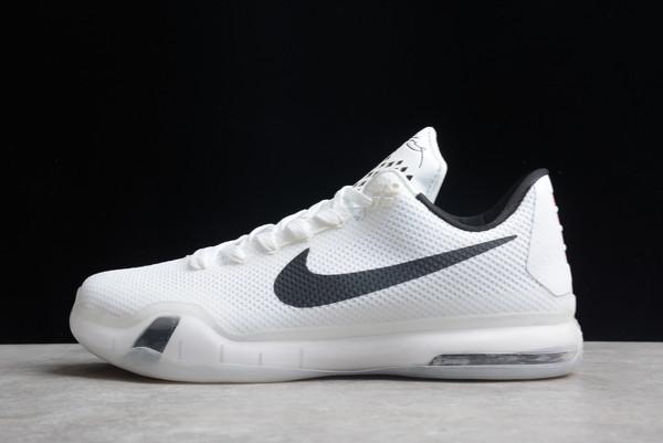 2021 Cheap Nike Kobe 10 Fundamentals White Wolf Grey-Black 705317-100