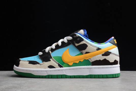 Ben & Jerry's x Nike SB Dunk Low Chunky Dunky White Lagoon Pulse-Black-University Gold For Sale CU3244-100