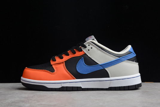 NBA x Nike Dunk Low EMB Knicks Black Racer Blue-Grey Fog-Orange For Sale DD3363-002