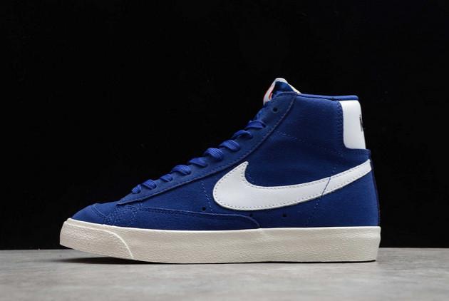 Nike Blazer Mid '77 Suede Deep Royal Blue/White-Sail-Black For Sale CI1172-402