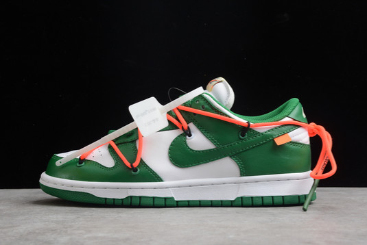 Off-White x Nike Dunk Low White Pine Green-Pine Green For Sale CT0856-100