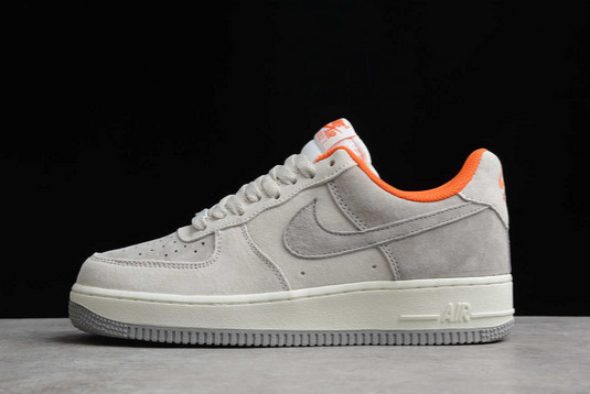 Nike Air Force 1 07 Low Off White Grey-Orange For Sale CQ5059-102
