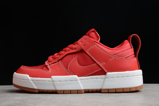 Nike Dunk Low Disrupt Red Gum University Red White-Gum For Sale CK6654-600