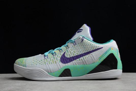 Nike Kobe 9 IX Grey Green Purple For Sale 630487-005